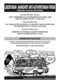 discussions by open assembly of anarchists/anti-authoritarians L.A.A. forum image